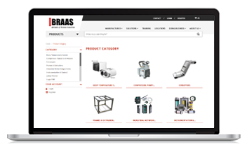 BRAAS launches new ecommerce site with the help of Unilog
