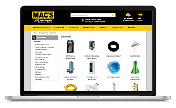 Mac's hardware launched their new website with the help of Unilog