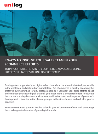Datasheet: Involve sales team in your ecommerce efforts.