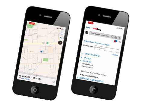 Unilog's Mobile app: Location Navigation
