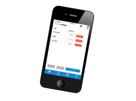 Unilog's Mobile app:Offline Shopping Cart