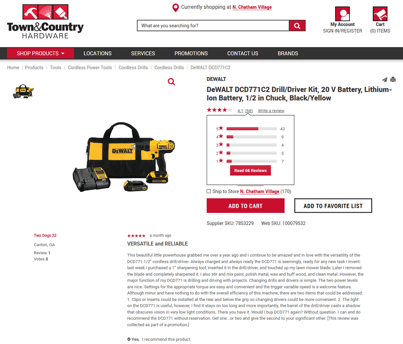 DeWALT Drill review page