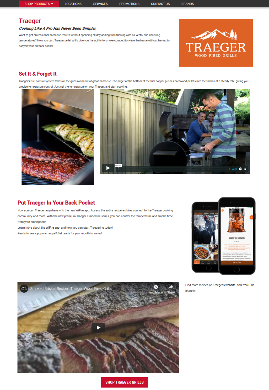 Traeger Brand Page