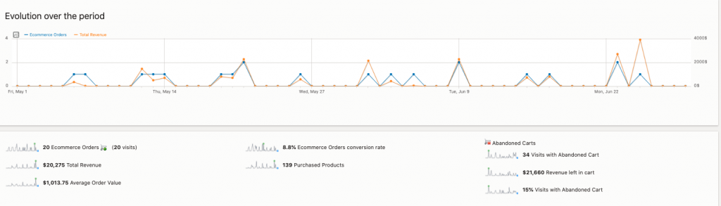 Site Traffic-Measure traffic on your site in relation to eCommerce sales